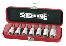 Sidchrome SCMT14274 1/2 inch Drive In Hex Socket Set - 7 Pieces