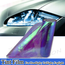 "Chameleon Neo Purple Color 12""x48"" Headlight Taillight Fog Light Vinyl Tint Film"