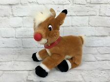 "Vintage 1999 Rudolph Red Nosed Reindeer 10"" Plush Stuffed Animal Christmas Toy"