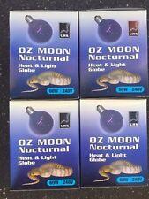 REPTILE HEAT GLOBE OZ  Moon Night light 4 x 60watt OR 40watt E27