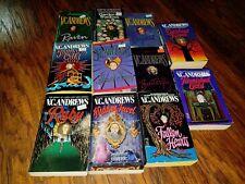 Lot of 11 V.C. Andrews paperbacks, Tarnished Gold, Twilights Child, Ruby, Crysta