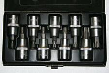 9 tlg 1/2 Zoll Torx Steckschlüsselsatz (Nüsse) T20-T60