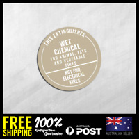 FIRE EXTINGUISHER STICKER - WET CHEMICAL - Safety Sticker 150x150mm #FE006