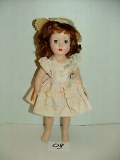 "#1950s Effanbee Hard Plastic 14"" Redhead Honey Doll w Outfit Lot#08"