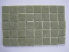"Loose 3/4"" (2 cms) square Glass Mosaic Tiles - 40 pieces - ""Avocado Green"""