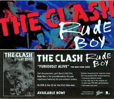The Clash 2006 Rude Boy promotional sticker New Old Stock Flawless Condition