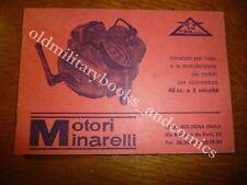 MOTORI MINARELLI MANUALE D'USO E MANUTENZIONE MOTORI CICLOMOTORE 48 cc. 3 VELOCI