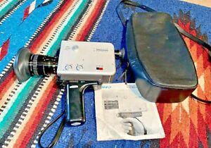 RARE Braun Nizo S 8 T. Movie Camera & Original Case/ owners manual.
