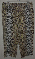 WOMENS bloomingdale's STRETCH ANIMAL PRINT CAPRIS / CROPPED PANTS   SIZE 8