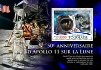 Togo - 2019 Apollo 11 Moon Landing Anniversary - Stamp Souvenir Sheet TG190239b