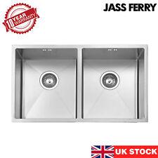 JASSFERRY 1.2mm Handmade Premium Undermount Stainless Steel Kitchen Sink 2 Bowl