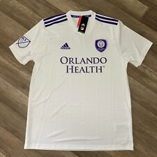 ADIDAS Climalite MLS Orlando City White Replica Jersey Men's Large NWT