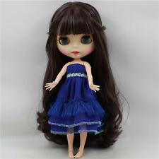 Blythe Nude Doll from Factory Matte Skin Face + Azone Body long purple hair sale