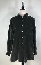 L.L. Bean Shirt Olive Green Velvet Jacket Comfy Women's  Size Small