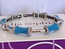 "Lia Sophia ""SPECTRUM"" Stretch Bracelet, Cut Crystals, Brilliant Blue, NWOT"