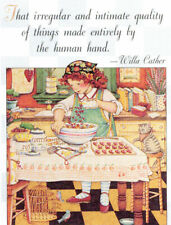 Willa Cather-Intimate Quality-Handcrafted Valentine Magnet-W/Mary Engelbreit art