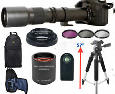 "HD ZOOM LENS 500-1000MM + BACKPACK +57"" TRIPOD +REMOTE FOR CANON EOS REBEL DSLR"