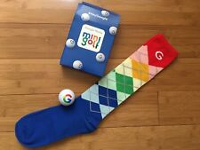 #HeyGoogle Google Home mini golf - RAINBOW COLORS Golf Socks and Golf Ball