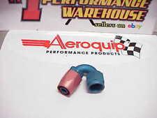 NEW Aeroquip Red / Blue Aluminum -08 AN 120° Reusable Fitting  #11