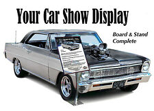 YOUR CAR SHOW DISPLAY - Board & Stand Complete