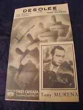 Partition Désolée Tony Muréna Valse 1951 Music Sheet
