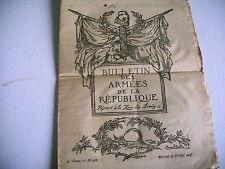 militaire bulletin des armées de la république n° 268 - 1917