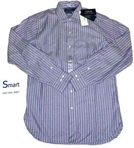 $80 NWT SIZES S-XL MEN Polo Ralph Lauren Button Down Dress Shirt LS Pony Logo