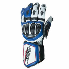 RST Tractech Evo R Leather Motorcycle Motorbike Sports Race Gloves CE - Blue