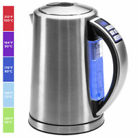 BCP 1.7L 1500W Stainless Steel Electric Kettle W/ LED Display, Auto Shutoff