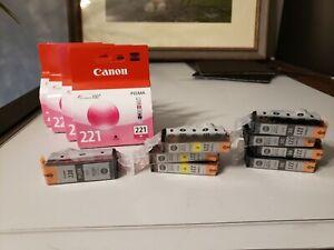 Canon CLI-221 - Black, Magenta, Yellow Canon CLI-220-Black