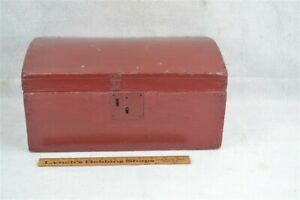 old early dome top box document painted 16 x 9 x 8 in high period 19th c