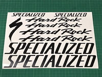SPECIALIZED HARDROCK Cycling Stickers Decals Colours Bike Frame Fork MTB Road