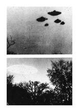 Enmarcado impresión recortes de periódico viejo de UFO avistamiento (Imagen Cartel Aliens)