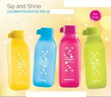 TUPPERWARE 500ML Square Set of 4  BOTTLES MULTI COLOR  FREE SHIPPING