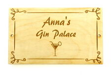 Personalised Gin Palace Sign Plaque Gift Perfect Gift Friends Family Novelty Han