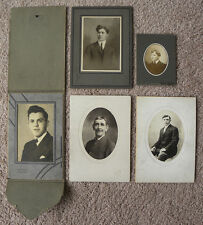 SET OF 5 PHOTOS PORTRAITS MEN FROM PGH, ELIZABETH, SEWICKLEY,PA