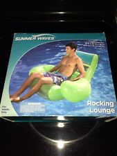 """Summer Waves Adult Rocking Lounge 41""""x47""""x32"""" Pool Float Inflatable W Cup Holder"""