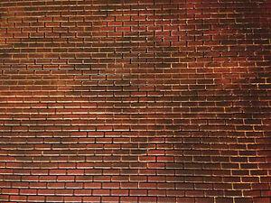 "Dollhouse Garage Diorama 1:12 1:18 Scale 11"" x 17"" Custom Red Brick Vinyl Siding"