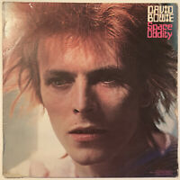 DAVID BOWIE SPACE ODDITY LP RCA ORANGE LABELS 1972 USA PRESS WITH RARE POSTER