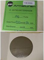 PIER Armaturen DN25/50 Ag-Folie D= 54 mm x 0,12mm Dicke aus Silber Ag 1 Stk