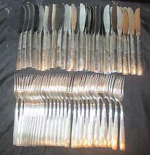 Victors Co Alt Overlay International Silver Flatware 65 Pieces