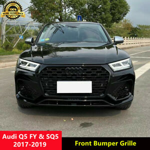 Q5 Black Front Grille Honeycomb Mesh Grill for Audi Q5 FY SQ5 2017-2019