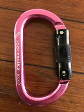 OVAL Carabiner ROCK EXOTICA PINK Rock-O Pirate AUTO-Lock Pink Color