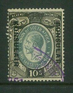 "SOUTH AFRICA - 1937 10/- KGV ""CONSULAR"" overprint - SCARCE (ES848a)"