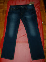 """NWT TRUE RELIGION mens Slim Flap jeans tag size 42 actual measured 43.5"""" $218"""