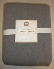 Pottery Barn Teen Fave Tee Duvet Cover Twin Cotton Gray #365