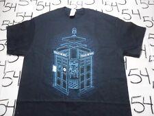 Medium- Doctor Who Police Box 3D Shirt Punch Gildan Brand T- Shirt