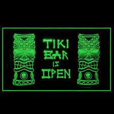 170037 Tiki Bar is OPEN Mask Beer Pub Bar Fantastic Display LED Light Sign
