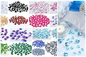 100 Acryl Kristalle Diamanten Dekosteine Streusteine Tischdeko Hochzeit Ø 12mm