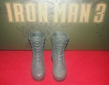 1/6 Hot Toys Iron Man 3 The Mandarin MMS211 Army Green Boots *US Seller*